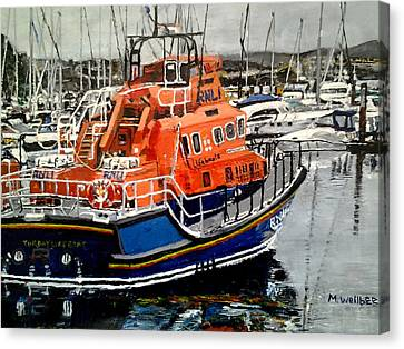 Torbay Lifeboat Canvas Print by Mickton Wellbee