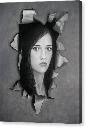Torn Canvas Print by Lynet McDonald
