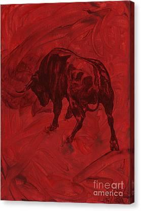 Toro Painting Canvas Print by Konni Jensen