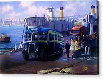 Torpoint Ferry. Canvas Print by Mike  Jeffries