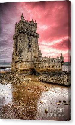 Torre De Belem Lisboa Canvas Print by English Landscapes