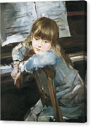 Torrescassana, Francesc 1845-1918. Girl Canvas Print by Everett