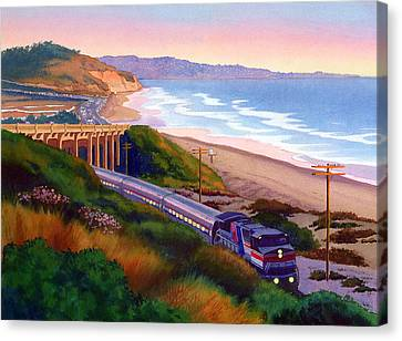 Torrey Pines Commute Canvas Print by Mary Helmreich