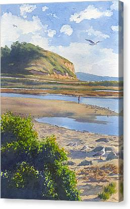 Torrey Pines Inlet Canvas Print by Mary Helmreich