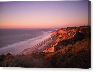 Torrey Pines Sunset Canvas Print by Tanya Harrison