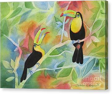 Toucan Play At This Game Canvas Print by Deborah Ronglien