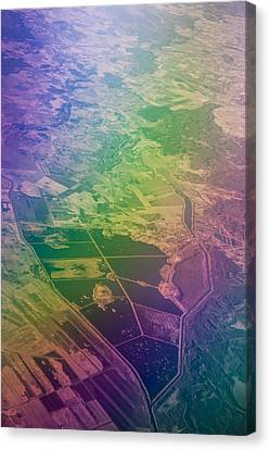 Touch Of Rainbow. Rainbow Earth Canvas Print by Jenny Rainbow