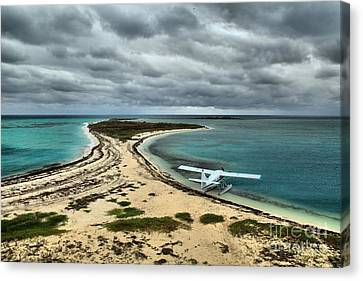 Touchdown At Tortugas Canvas Print by Adam Jewell