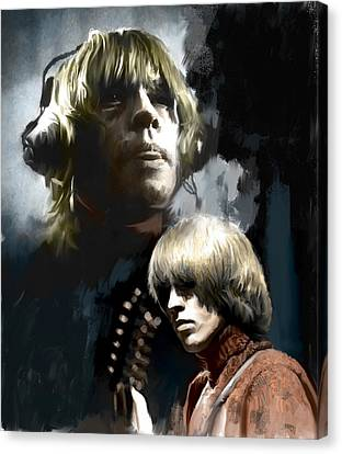 Touchstone Brian Jones Canvas Print by Iconic Images Art Gallery David Pucciarelli
