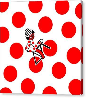 Tour De France 2014 Stage 17 Canvas Print by Asbjorn Lonvig