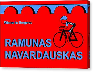Tour De France 2014 Stage 19 Canvas Print by Asbjorn Lonvig