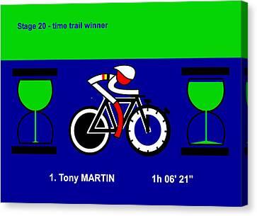 Tour De France 2014 Stage 20 Canvas Print by Asbjorn Lonvig