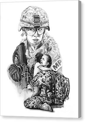 Tour Of Duty - Women In Combat Le Canvas Print by Peter Piatt