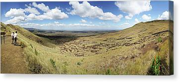 Tourists Near The Masaya Volcano Canvas Print by Panoramic Images