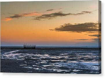 Canvas Print featuring the photograph Tout Est Silence by Thierry Bouriat