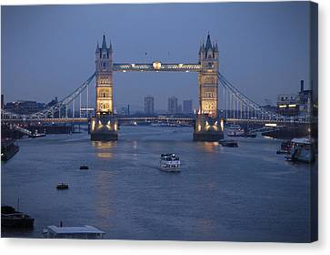 Tower Bridge - England Canvas Print by Mike McGlothlen
