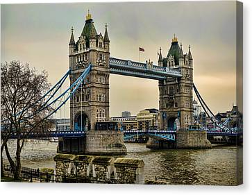Tower Bridge On The River Thames Canvas Print by Heather Applegate