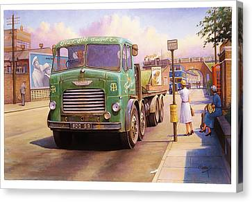 Tower Hill Transport. Canvas Print by Mike  Jeffries