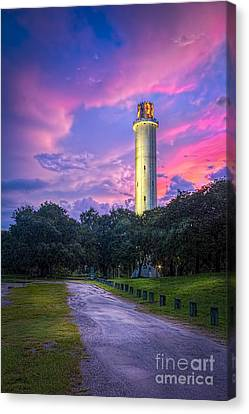 Tower In Sulfur Springs Canvas Print by Marvin Spates