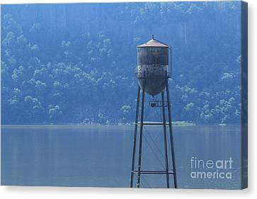 Tower In The Water Canvas Print by Lotus