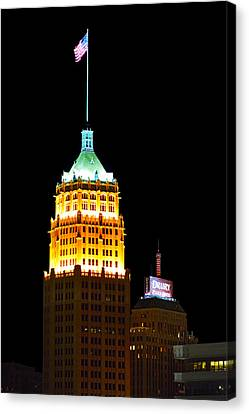 Tower Life Building San Antonio Canvas Print by Christine Till