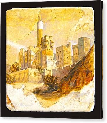 Tower Of David Canvas Print by Miki Karni