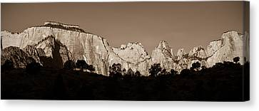 Towers Of The Virgin Canvas Print by Adam Romanowicz
