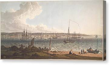 Town And Harbour Of Liverpool Canvas Print by British Library