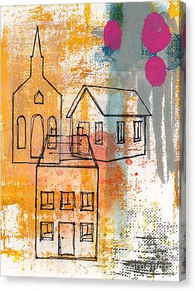 Town Square Canvas Print by Linda Woods