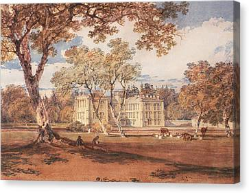 Towneley Hall, C.1798 Canvas Print by Joseph Mallord William Turner