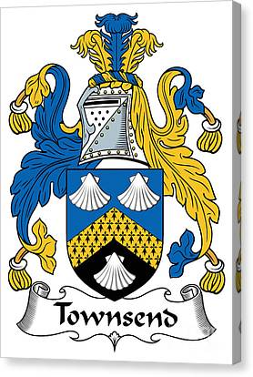 Townsend Coat Of Arms Irish Canvas Print by Heraldry