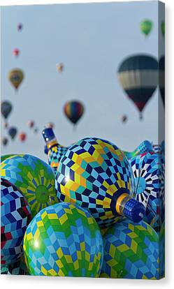 Toy Balloons At The Albuquerque Hot Air Canvas Print by William Sutton