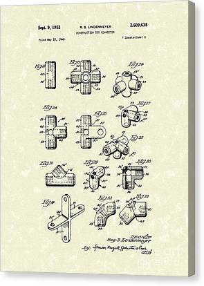 Toy Connector 1952 Patent Art Canvas Print by Prior Art Design