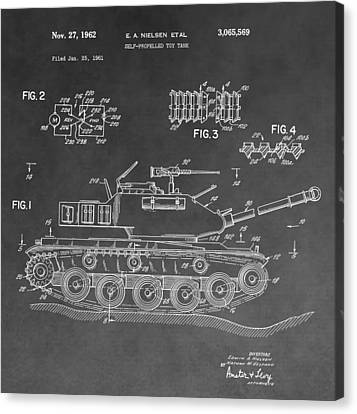 Toy Military Tank Patent Canvas Print by Dan Sproul