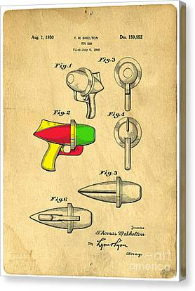 Toy Ray Gun Patent II Canvas Print by Edward Fielding