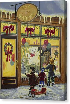 Toy Shoppe Canvas Print by Roger Witmer