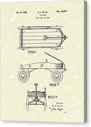Toy Wagon 1939 Patent Art Canvas Print by Prior Art Design