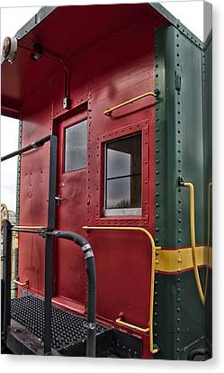 Tpw Rr Caboose Rear View Canvas Print by Thomas Woolworth