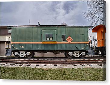 Tpw Rr Caboose Side View Canvas Print by Thomas Woolworth