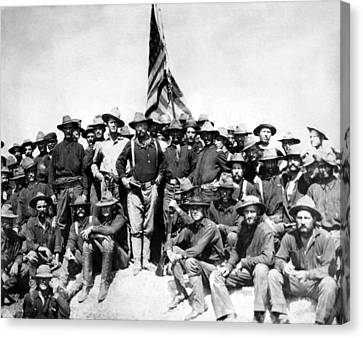 Tr And The Rough Riders Canvas Print by War Is Hell Store