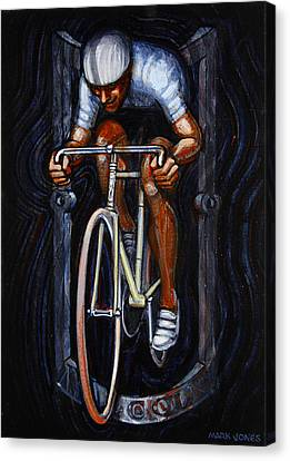 Track Racer Malcolm Cycles 1 Canvas Print by Mark Howard Jones