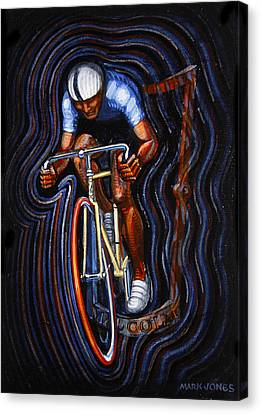 Track Racer Malcolm Cycles 2 Canvas Print by Mark Howard Jones