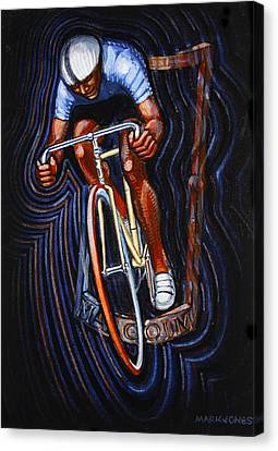 Track Racer Malcolm Cycles Canvas Print by Mark Howard Jones