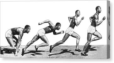 Track Star Jesse Owens Canvas Print by Underwood Archives
