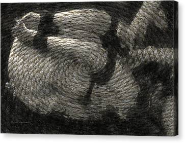Tractable With Ms Roper Textured Canvas Print by Thomas Woolworth