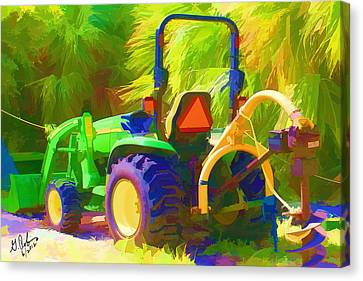Tractor Canvas Print by Gerry Robins