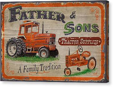 Tractor Supplies Canvas Print by JQ Licensing