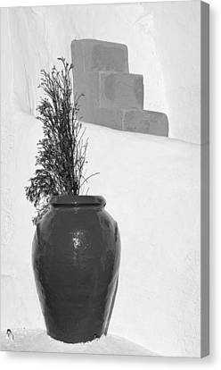 Traditional Decoration In Oia Canvas Print by George Atsametakis