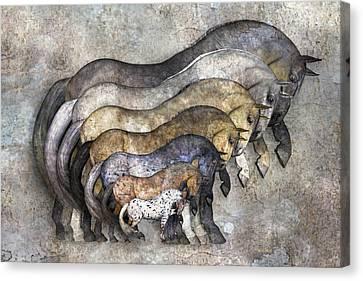 Traditional Horses Canvas Print by Betsy C Knapp