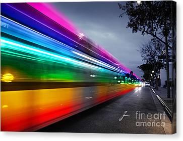 Traffic In Los Angeles Canvas Print by Konstantin Sutyagin